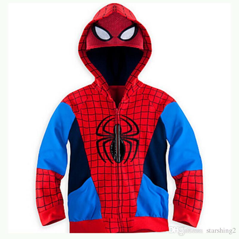 Avengers Iron Man Thor Children Hoodies Outwear Boys Clothes Baby