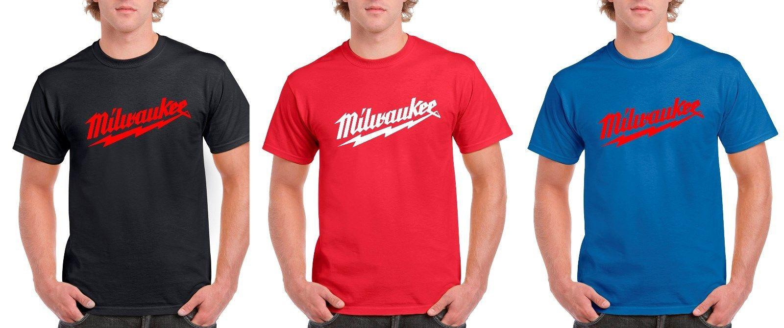 Milwaukee Tools T Shirt Classic Logo T Shirt Mens Size S 5xl New