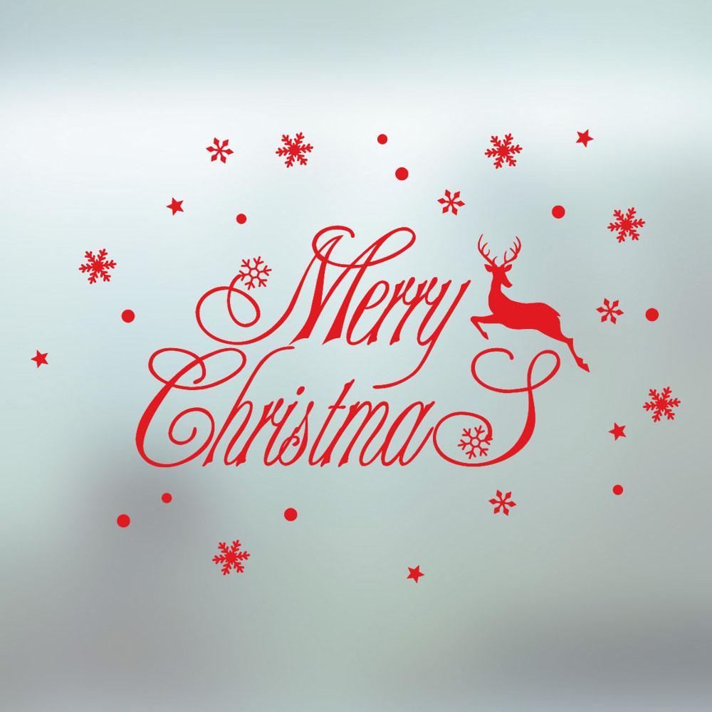 2019 Weihnachten.2019 Neues Jahr Frohe Weihnachten Wandaufkleber Home Shop Windows Aufkleber Dekor Fenster Aufkleber Weihnachten