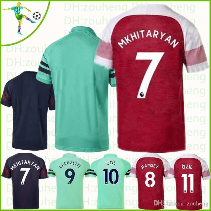 07a8606a8 Arsenal Soccer Jersey POLO 2018 2019 Home Away Third OZIL LACAZETTE ...