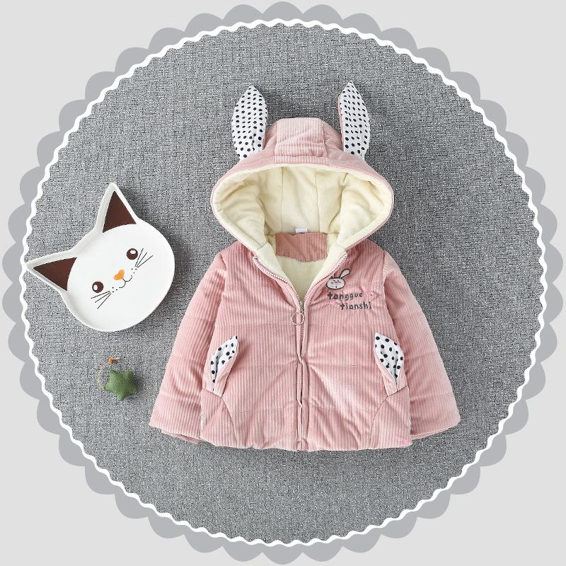 4f1cacefa2cc Children Warm Winter Baby Girls Infant Kids Embroidery Cartoon ...