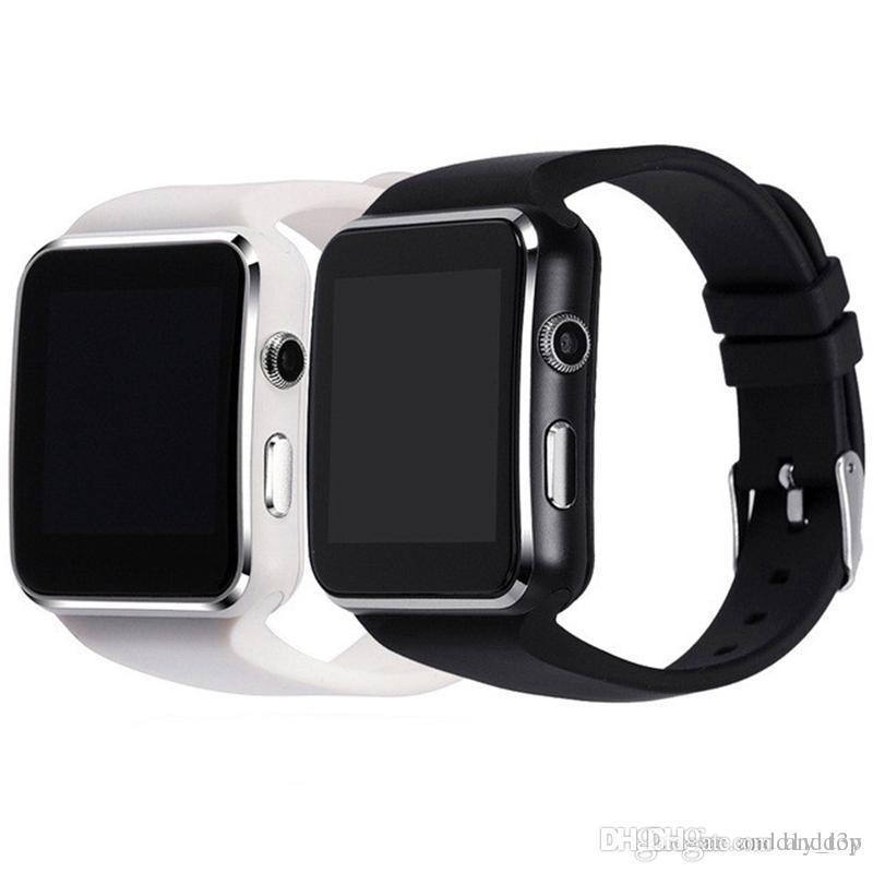 9519884b76354 Relojes De Mujer X6 Bluetooth Reloj Inteligente SmartWatches Para Samsung  Galaxy S8 S8Plus Note8 Soporte Cámara Tarjeta SIM Para Android Sistema IOS  Con ...