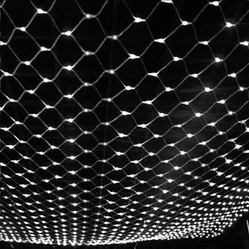 Luces netas Guirnaldas de Navidad Cadena de LED Hada de Navidad Fiesta de Navidad Jardín Decoración de la boda Cortina Luces1.5x1.5m 2x3m 4x6m