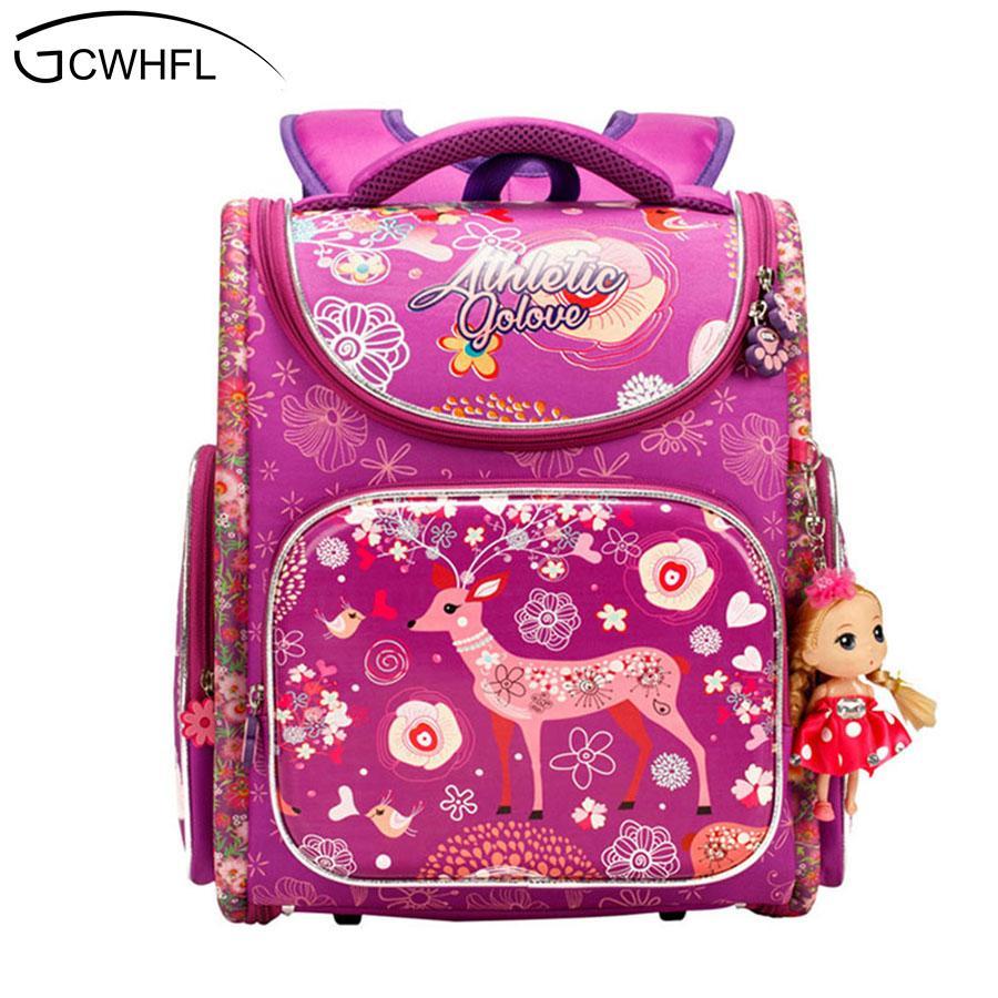 d2398d26fda4 Orthopedic Children School Backpack For Girls Primary School Bag 1 3 Grade  Cartoon Deer Boys Girls Knapsack Kids Mochila Escolar Cute Backpacks Hand  Bags ...
