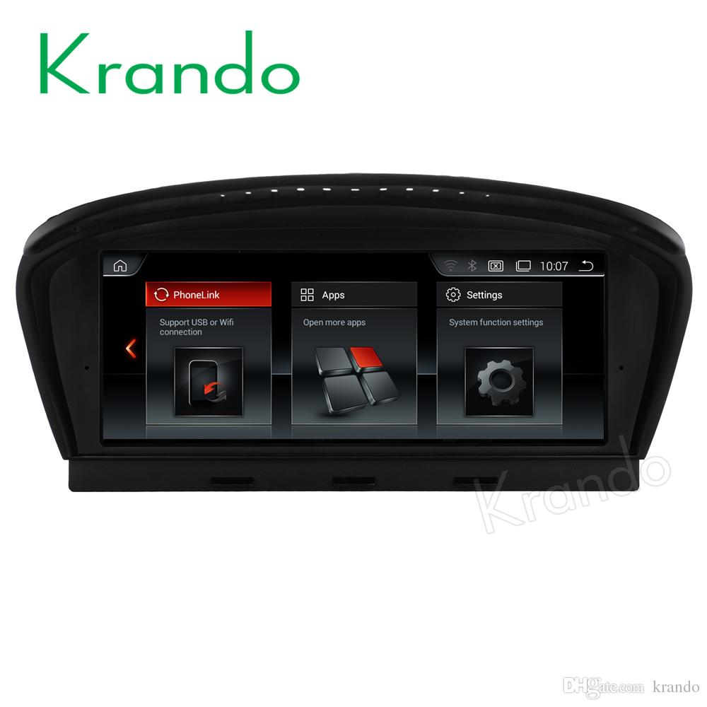 Krando Android 7 1 8 8 car dvd audio with gps entertainment for BMW 5  Series E60 2005-2010 navigation multimedia player