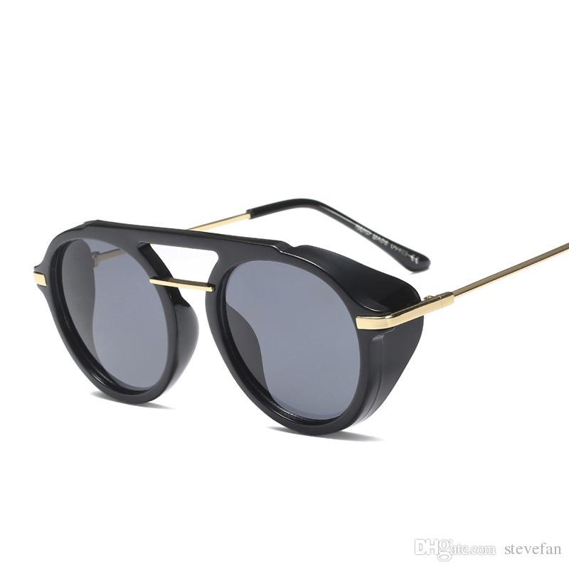 Compre Lentes De Sol De Protección Lateral Hombres Ronda Marrón Moda 2019  Círculo Gafas De Sol Para Mujeres Vintage Uv400 Medio Metal A  6.6 Del  Stevefan ... 78d7d956477b