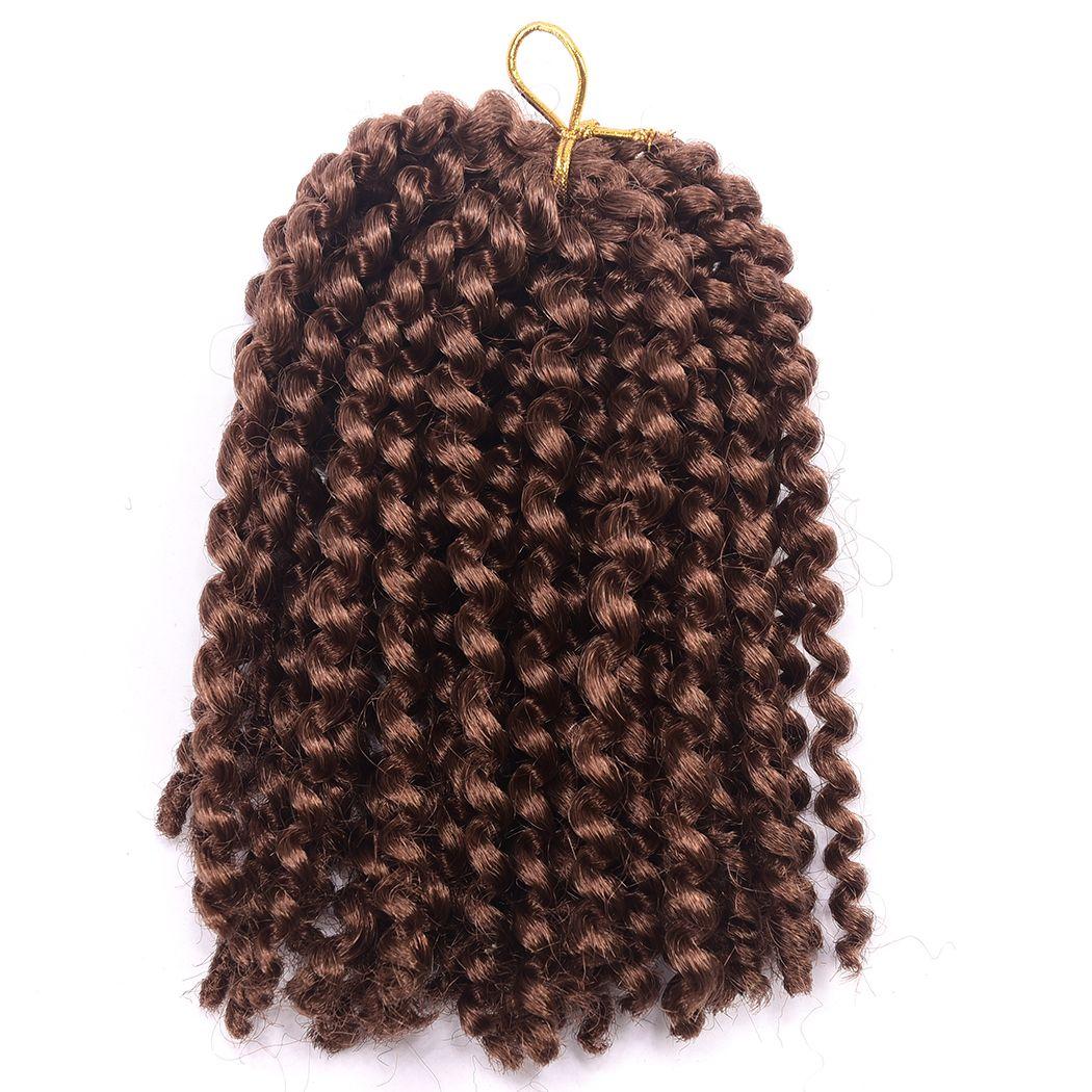 Beautful 옹 브르 8 'Marlybob 크로 셰 뜨개질 머리 끈 곱슬 곱슬 트위스트 합성 머리 크로 셰 뜨개질 머리 확장