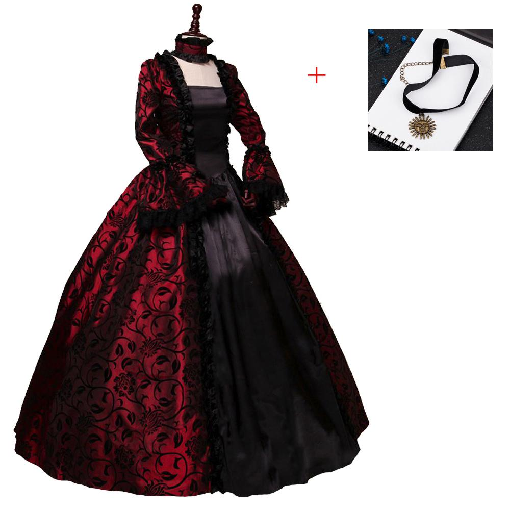 Renaissance Victorian Dress Ball Gown Vampire Halloween Southern Belle Costume Historical Stage