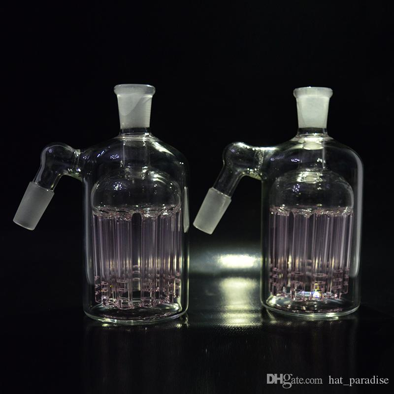 11 Armed Wide Tree Perc Glass Ashcatcher Pink 14mm 18mm Ash Catcher Glass Percolator for 14.4mm 18.8mm Joint Dab Rigs Bongs