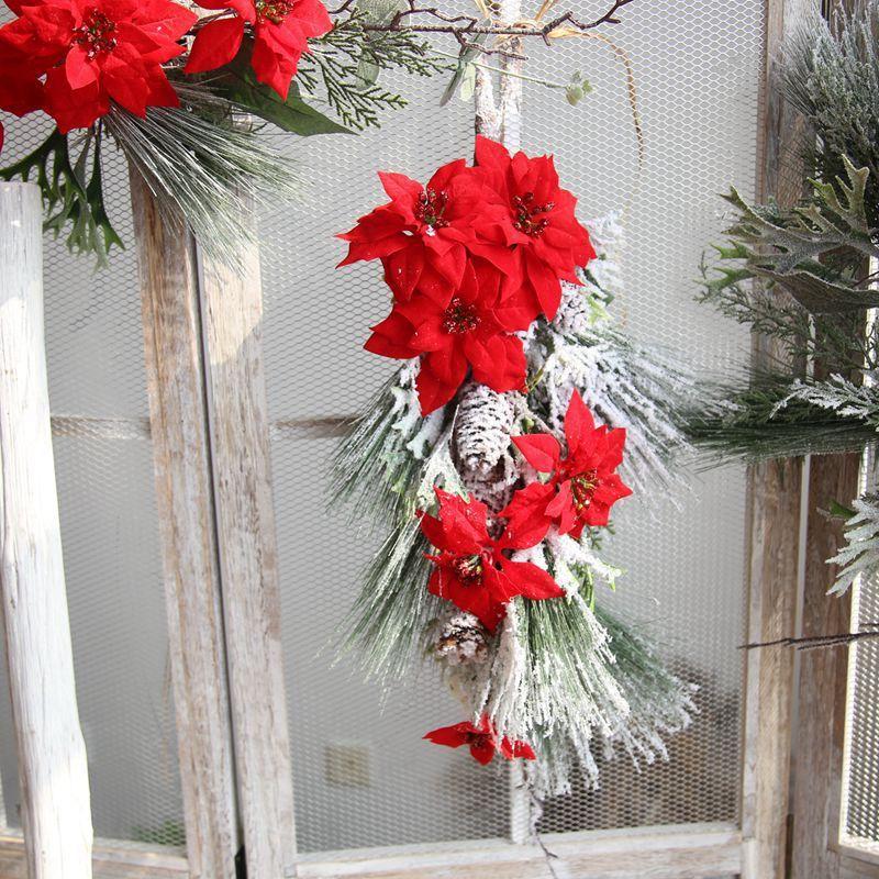 2018 Christmas Wreath Christmas Products Simulation Flower Christmas ...