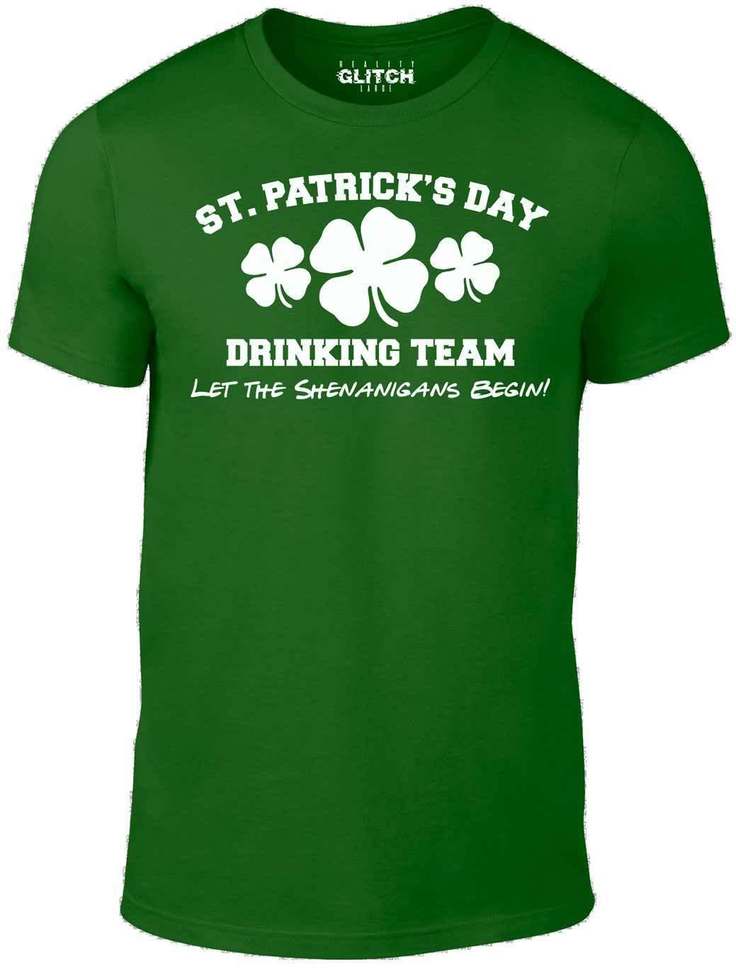 16205a1826b Men S St. Patrick S Day Drinking Team T Shirt Gift Funny Ireland Joke Irish  T Shirt For A Tee Shirt From Amesion21