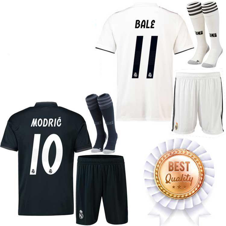 Compre 2018 2019 Real Madrid Fútbol Jersey 2018 19 Nuevo VARANE MARCELO  Local Blanco Lejos Negro BALE RAMOS ISCO KROOS 18 19 Camisetas De Fútbol A   16.33 ... 6c77c54def37f