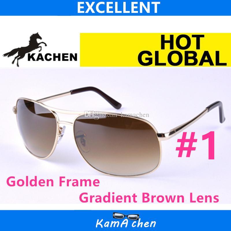 2900b97eb38496 KaChen UV400 Stil Schwarz Rahmen Metallrahmen Schutz Gradient Grau Qualität Sonnenbrille  Brille Männer Frauen