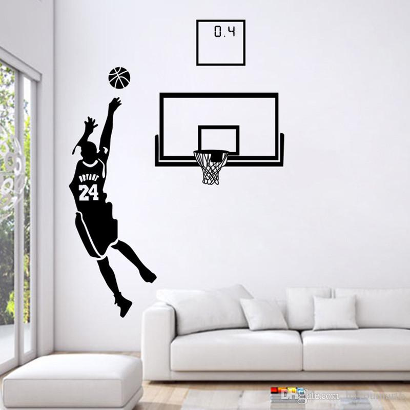 playing basketball home stickers sport design & stick pvc wall