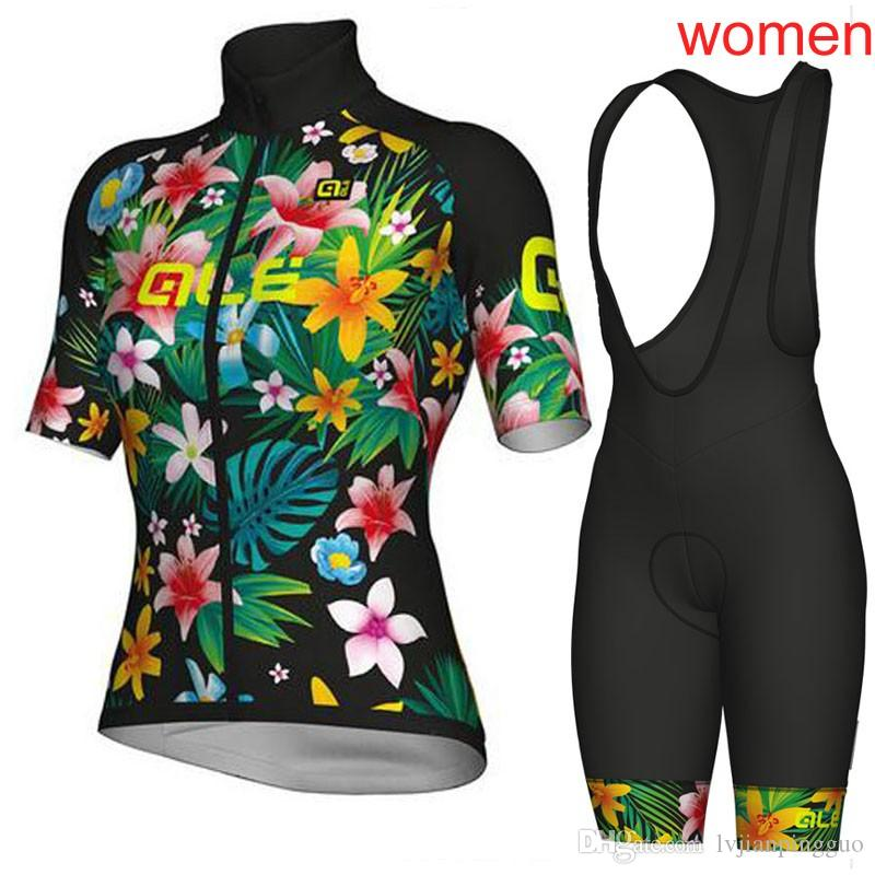 Women Summer ALE Cycling Jersey Pro Team Mountain Bike Short Sleeve Cycling  Clothing Set Breathable Quick 04db2c025