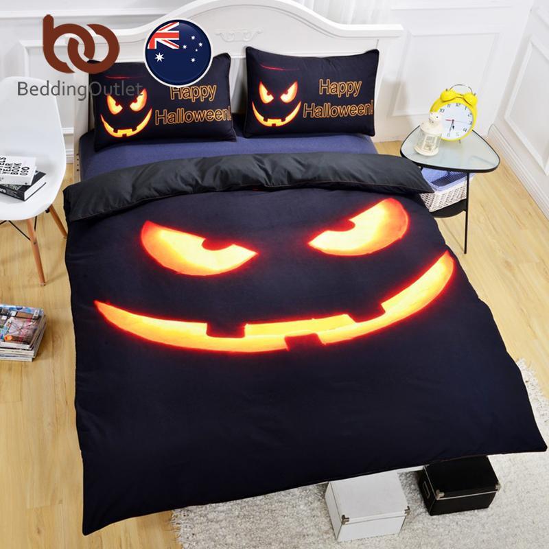 beddingoutlet happy halloween bedding set shiny duvet cover with pillowcases super soft quilt cover set au size double queen cotton duvet covers king king