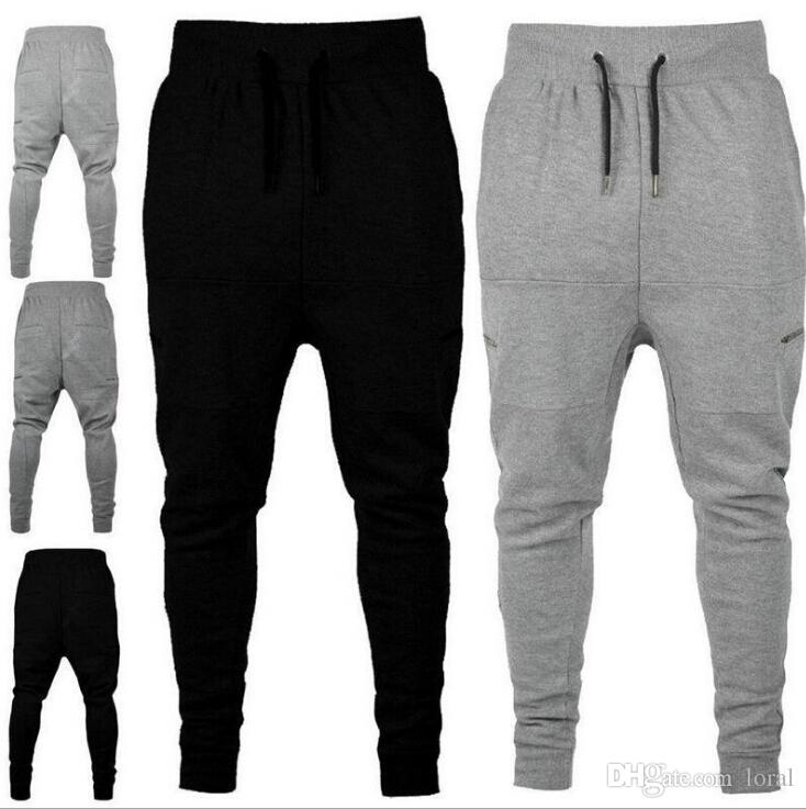 ... Pantalones harem casuales para hombre Pantalones deportivos para  jogging Pantalones largos negros y grises Pantalones largos ... e240c4e02a0d