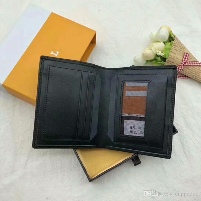 Top quality 2018 Luxury Brand Genuine Leather Long Business Purse Classic black Wallet for Men Women Designer Card Holders Wallet