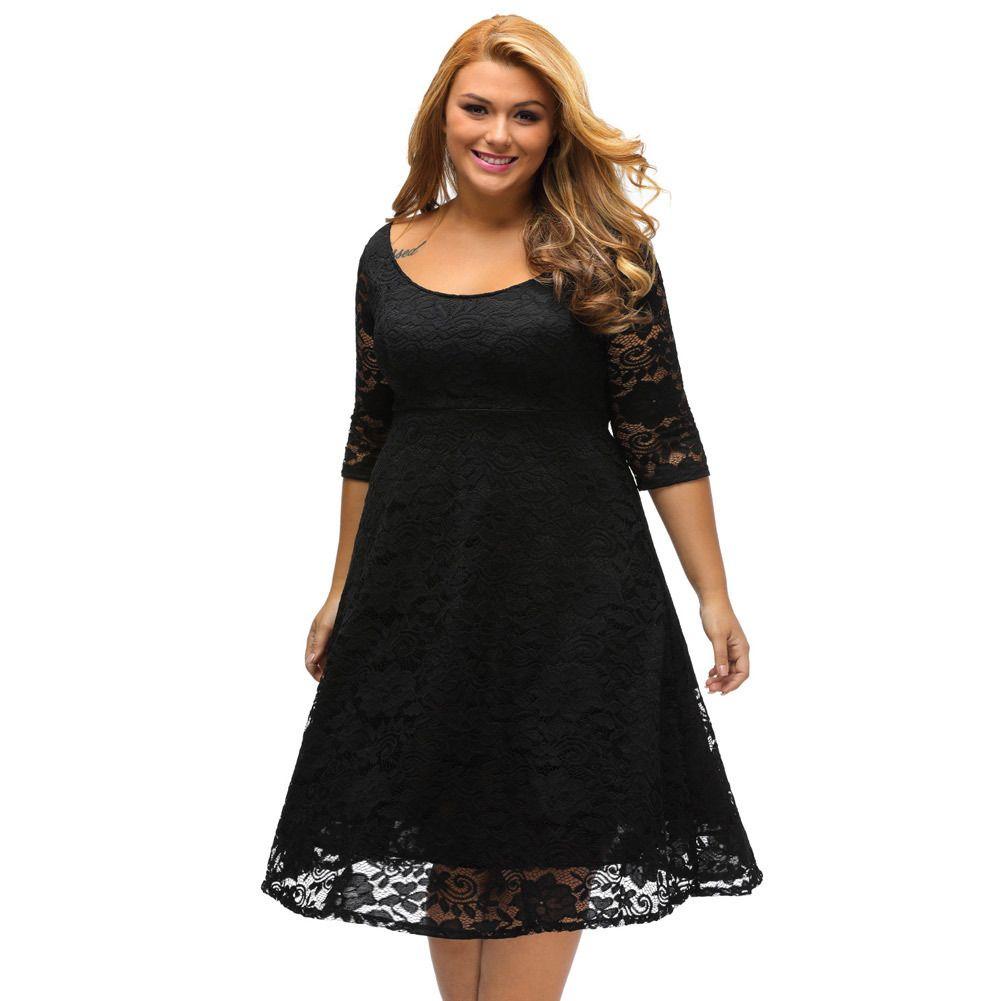 2e49ebfebed 2018 Autumn Large Size Fat Women s Dress Fashion Plus Size Women s ...
