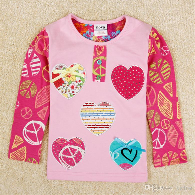 bFlowers fringe baby girls clothes girl t shirt 2017 girls fashion baby printed floral girl t shirts children clothing casual