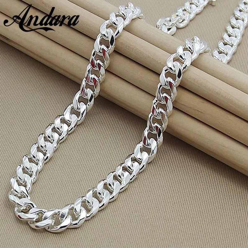 Mens 22 Inch 55cm 10mm Hip Hop Chain Necklace Silver Color Jewelry  Statement Necklace For Party N184 UK 2019 From Dhcomcn ef206fea26ee