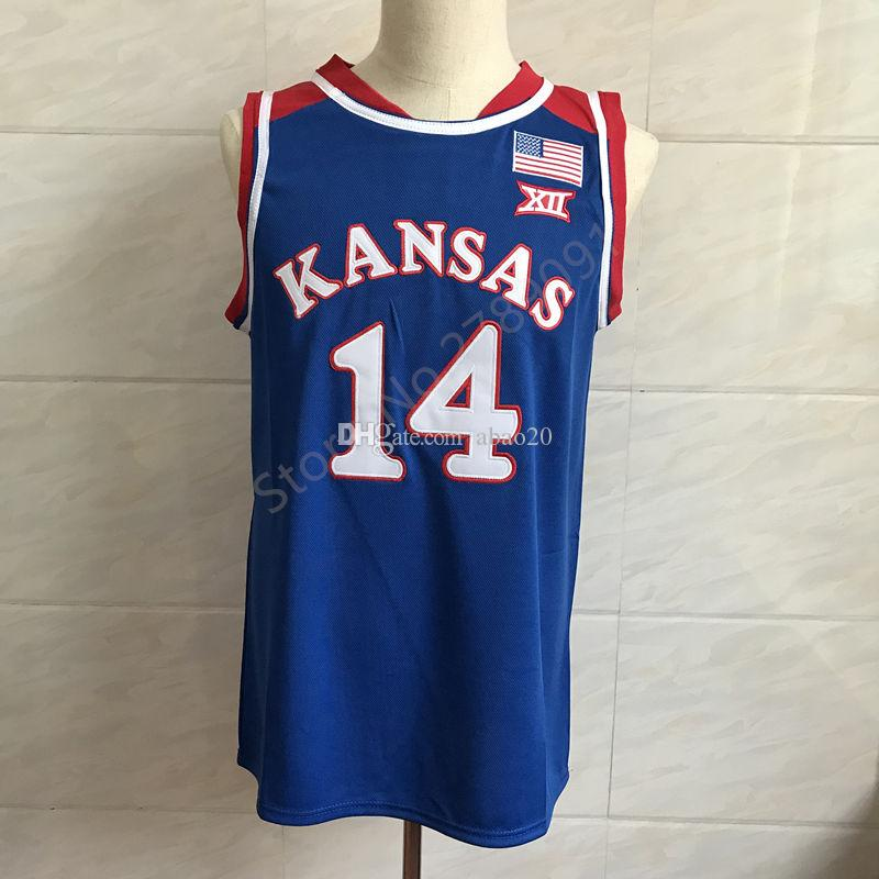 6c4e19d99a7 2019  14 Malik Newman Kansas Jayhawks KU Classic College Basketball Jersey  Embroidery Stitched Customize Any Number And Name Jerseys From Abao20