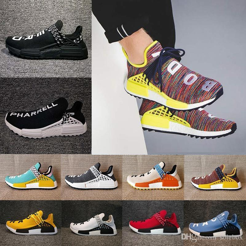 cost online cheap sale latest collections Human Race NMD Factory Real Boost Yellow Red Black Orange NMD Men Pharrell Williams X Human Race NMD Running Shoes Sneakers Yvj75Z0mtt