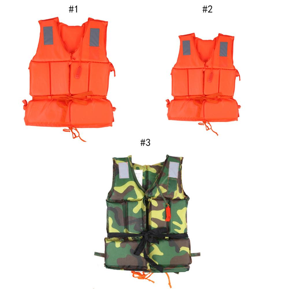with Life Whistle Safety & Survival Camping & Hiking Boat Work Outdoor Drifting Adult Life-saving Vest Waterproof Adjustable Reflective Jacket Safety Vest