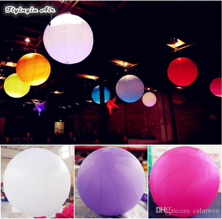 2018 led lighting balloons solid color ceiling decorative hanging