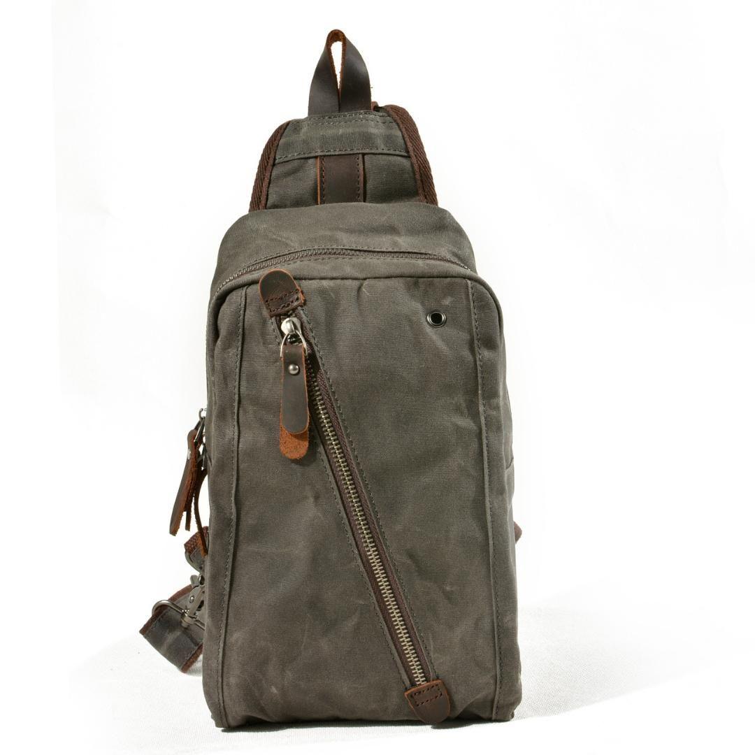 719c34f9e350 Waxed Waterproof Canvas Chest Pack Single Shoulder Strap Back Bag Crossbody  Bags Man Women Sling Shoulder Bag Back Pack Travel Backpacks With Wheels  Best ...