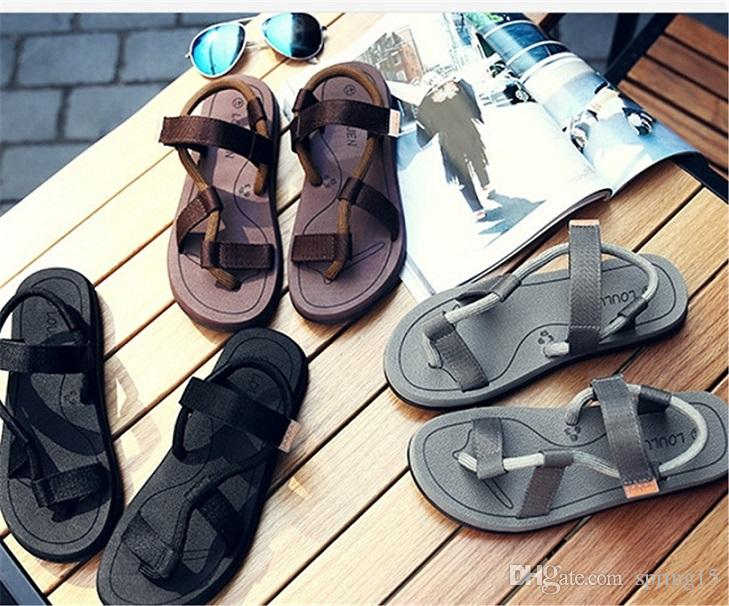 New Summer Style Couple Flip-Flops Fashion Brand Slippers Flat Good Quality Women Sandal Toed Beach Shoes