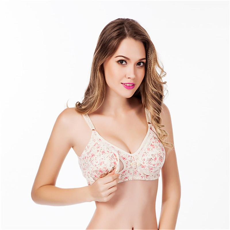 a4d9a8c0f 2019 Maternity Bra Front Poppers Nursing Bras Pregnant Women Underwear  Breast Feeding Nursing Bra Flower Breastfeeding For Mothers From  Newyearable