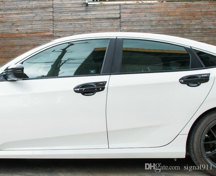 Hohe qualität ABS chrom 8 stücke auto türgriff dekoration schutzabdeckung + 4 stücke türgriff schüssel mit logo für Honda CIVIC 2016-2018