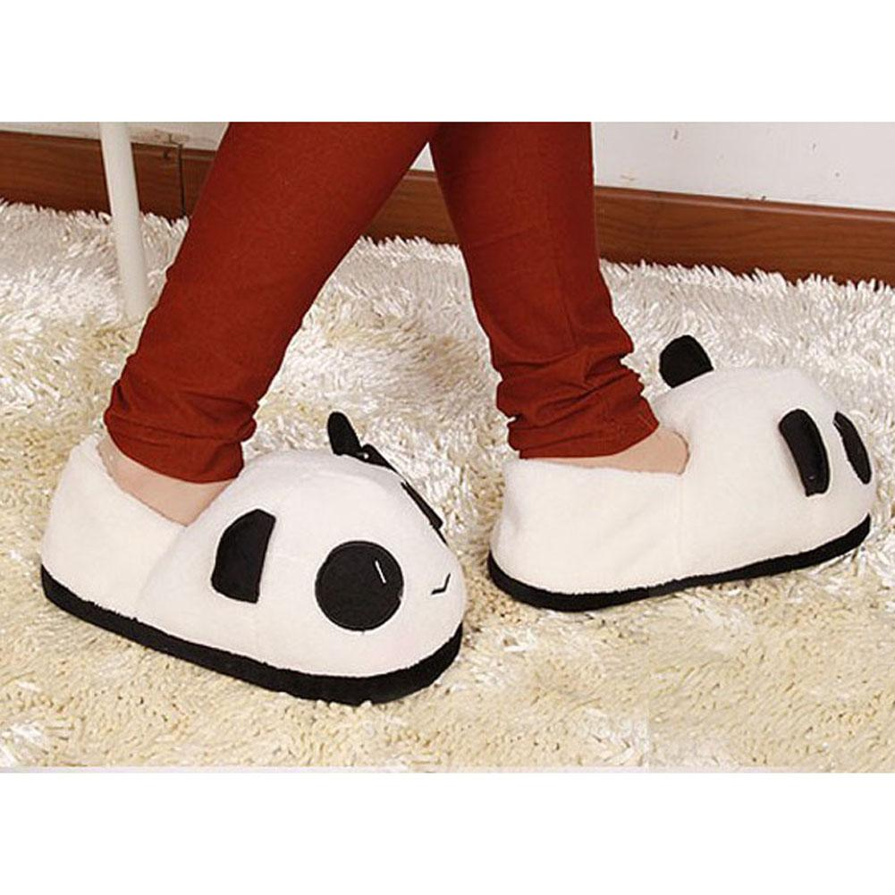 fb3c69146b84e Indoor Winter Panda Slippers Flat Furry Home Cartoon Animal With Fur Shoes  House Women Plush Anime Unisex Cosplay Wedge Boots Boots Sale From Gor2doe