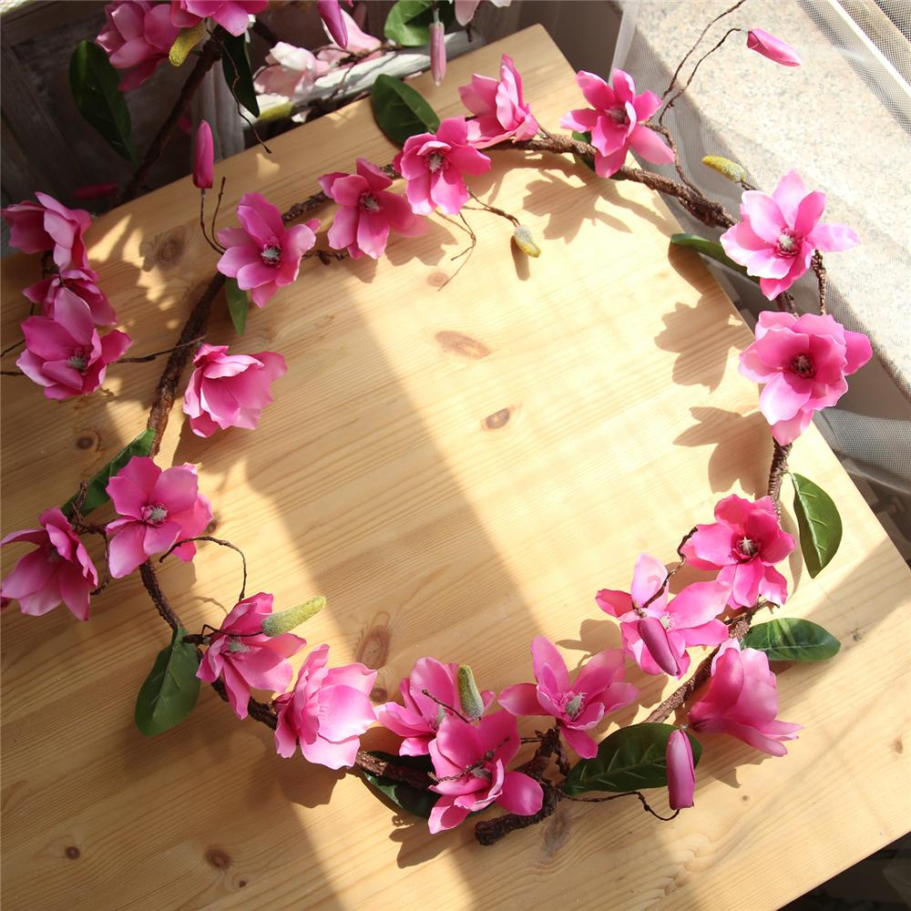 New Artificial Flower 1.8M Magnolia Vine Yulan Rattan For Home ...