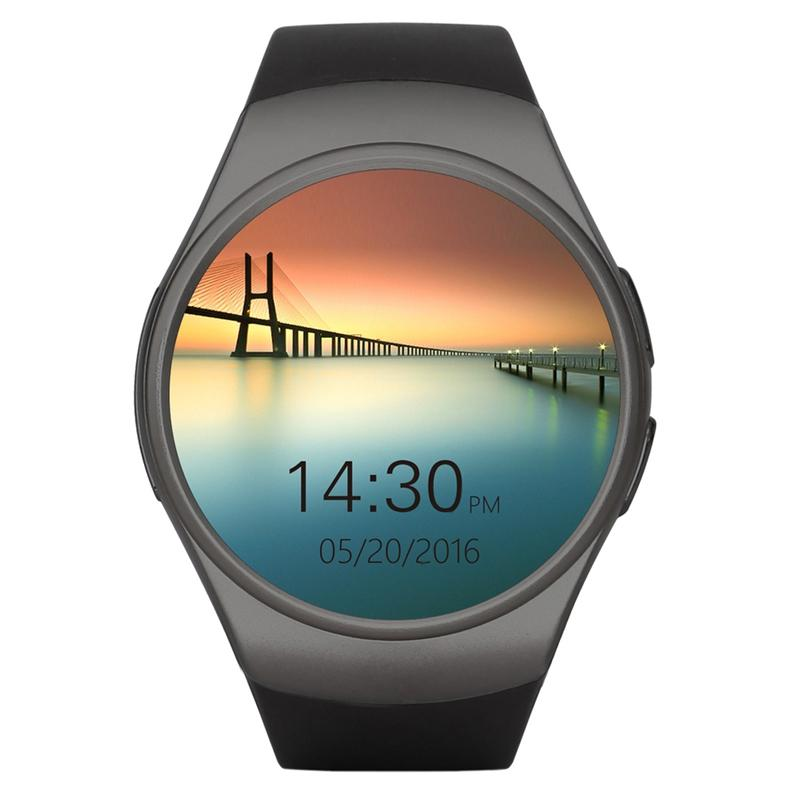 6f6816802af Compre LYKL KW18 Relógio Inteligente 1.3 Polegada HD IPS Relógio De Pulso  Apoio SIM TF Slot Para Cartão Monitor De Freqüência Cardíaca Relógio  Inteligente ...