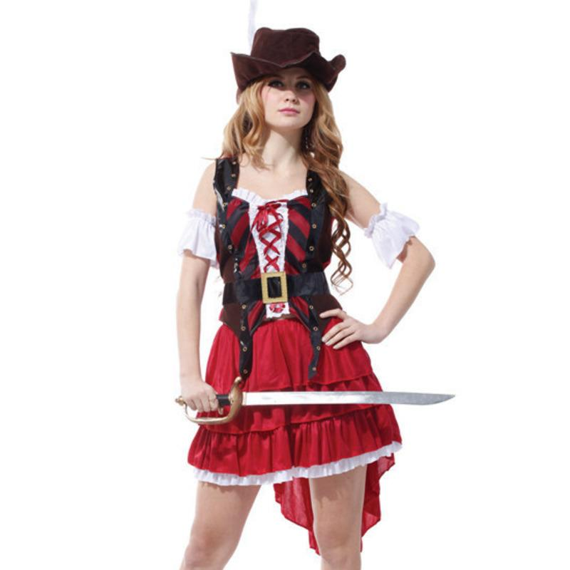 Halloween Costumes For Women Pirate Sexy Pirate Of The Caribbean Captain  Jack Sparrow Adult Cosplay Fancy Dress Carnival Group Themed Halloween  Costumes ...