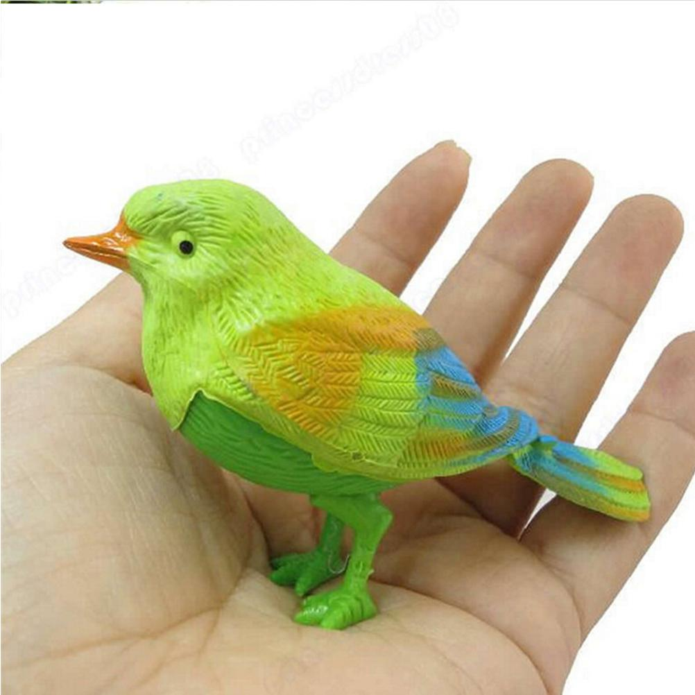 MINIFRUT Simulation sounding bird Voice Control Music Bird Cute Sing toy Electronic pets Song Morning Cage decorations