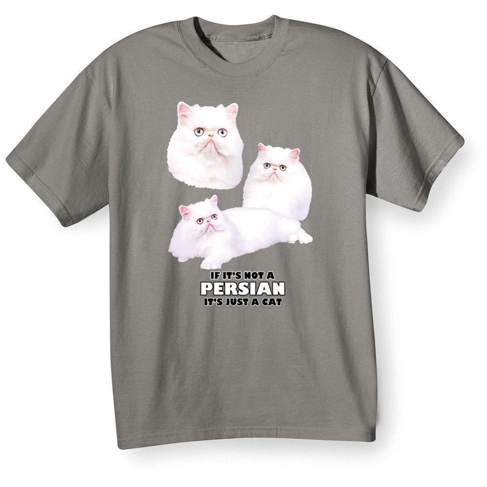 Maglietta Divertenti T Uomo Adulti Cat Shirt Persiano Acquista BxrdoWQCe