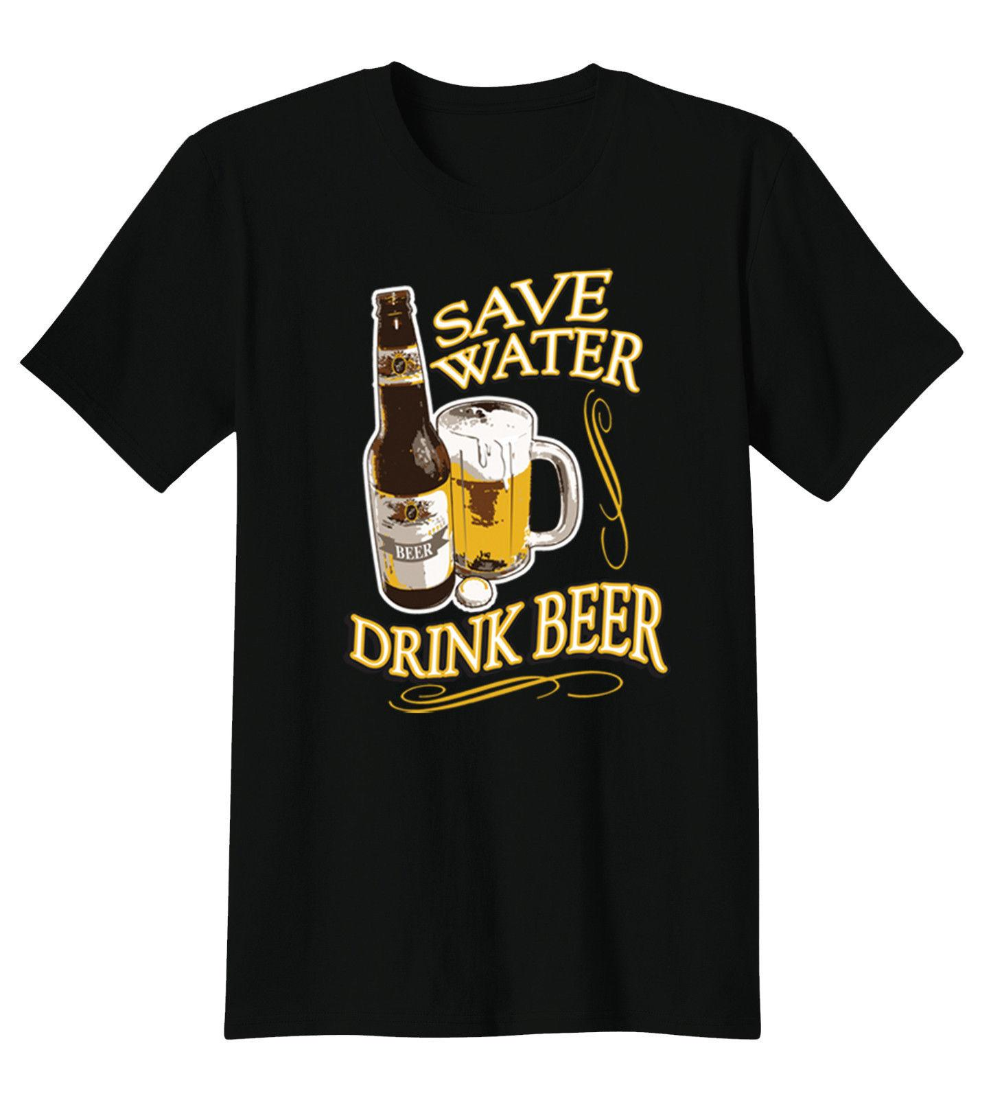 Compre Ahorre Agua Beba Cerveza Alcohol Botella Bebe Camiseta Divertida  Camiseta A  12.05 Del Lm32tshirt  55c27e4881dfe
