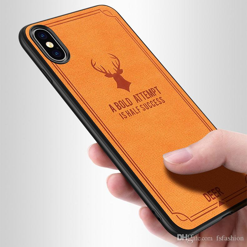 45222b6b56 Luxuy Brand Cloth Texture Batman Deer Soft TPU Case For Iphone X 7 8 6 6s  Plus 6plus Cloth Canvas Silicone Case For Iphone X Customize Phone Cases  Mobile ...