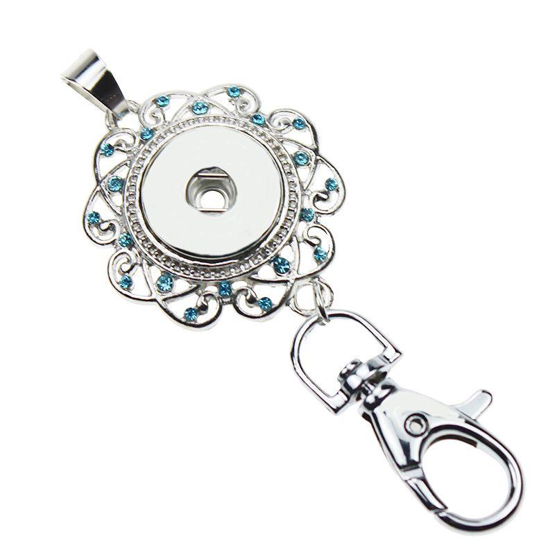 6 styles Wholesale Noosa Snap Keychain 18K Gold Lanyard Badge Work Documents Chunks Button DIY Fashion Jewelry