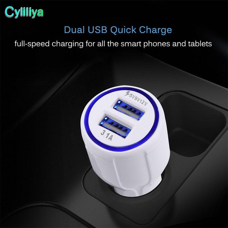 QC 3.0 سريع شاحن سيارة USB ثنائي الإضافية 3.1a شحن سريع 9V 2A 12V 1.2A كوالكوم التكيف السريع المسؤول محول لسامسونج غالاكسي S8 فون 8 X