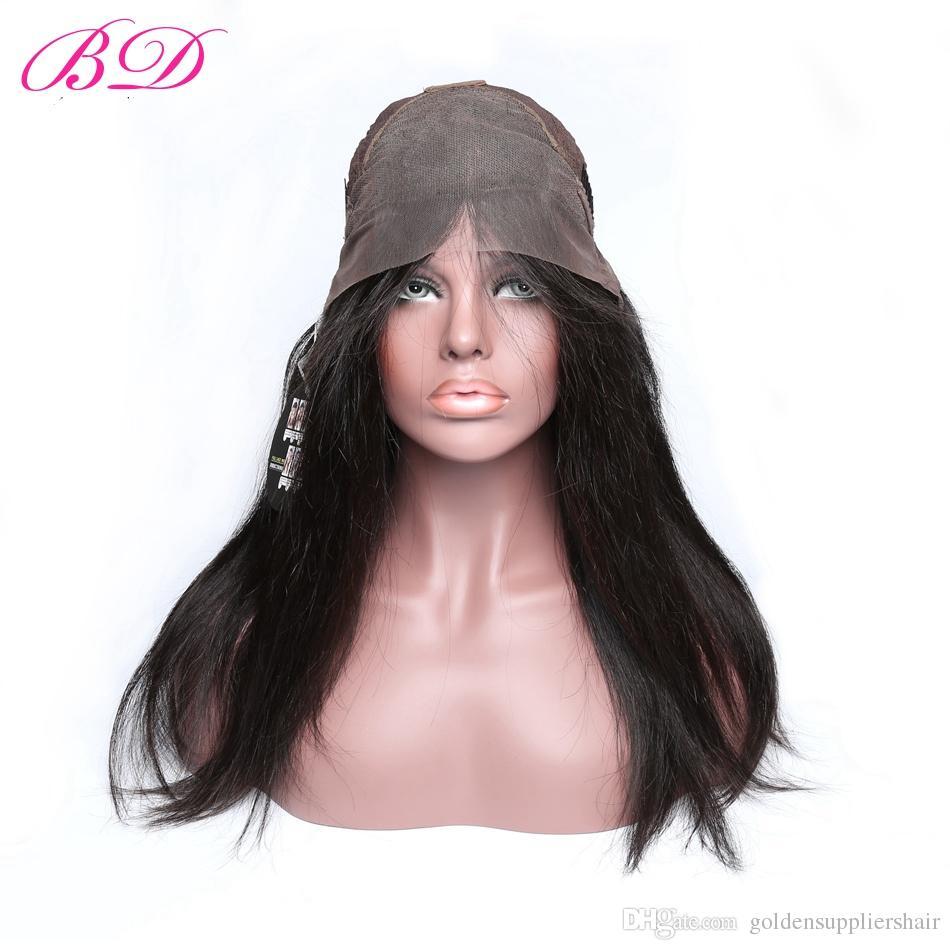 Парики фронта шнурка человеческих волос Виргинских волос BD бразильские Pre общипанные с продуктом плотности волос 150% младенца