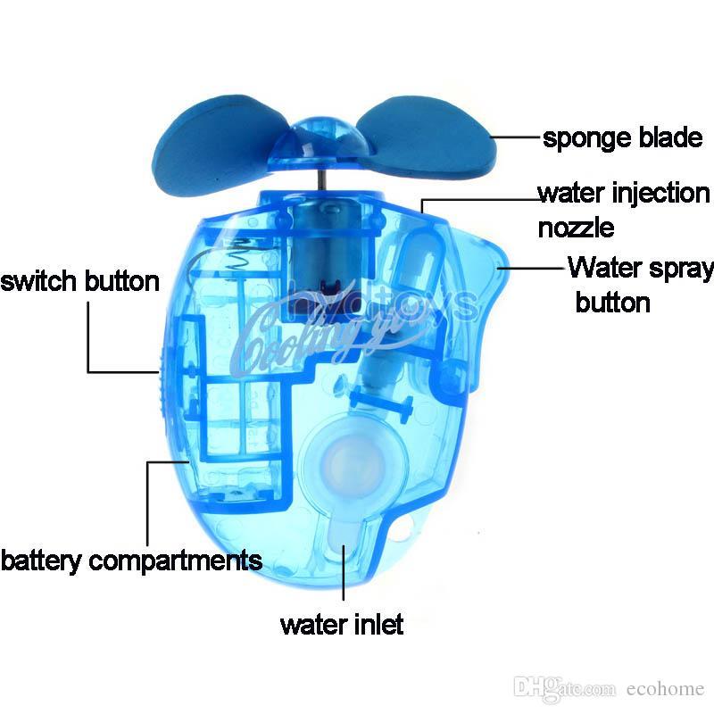 Mini tenuto in mano ventilatore portatile dello spruzzo d'acqua del ventilatore esterno umidificatore nebbia fredda Diffusore i bambini allievi dei bambini regalo Estate