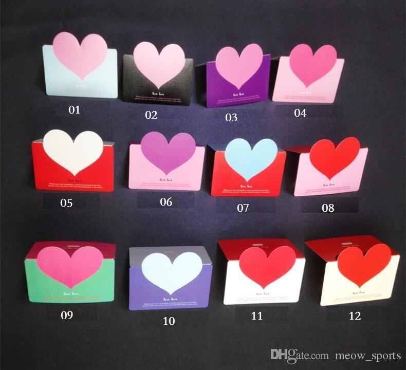 New Creative Universal Love Greeting Card Valentine 'S Day Gift Cards Heart Shape Birthday Card Postcard
