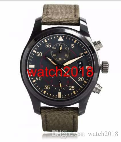 Luxury Watch 46 mm Pilots Anthracite Dial Chronograph Ceramic IW3880-02 Men Men's Watch