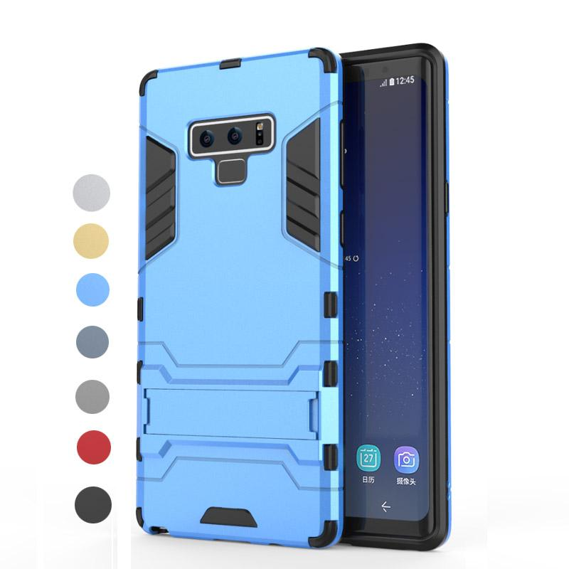 100% authentic fcf9d 70f2d For Galaxy Note9 Case Silicone Robot Armor Protector Hybrid Rugged Rubber  Cover For Samsung Galaxy Note 9 Kickstand Cases