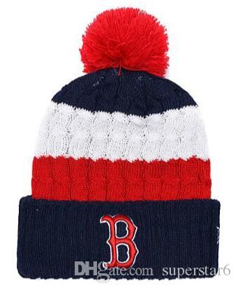 0852b8baea0a7 Top Selling Red Sox Beanie Champions Beanies Sideline Cold Weather Reverse  Sport Cuffed Knit Hat With Pom Winer Skull Caps Beach Hats Beanie Hats For  Men ...