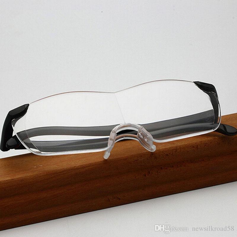 ca706eb4cb9d Big Vision Reading Glasses Men Women Plastic Rack Frameless Magnifying 1.6  Times +250 Degrees Clear Lens Eyeglasses Presbyopic Reading Glasses Cheap  Reading ...
